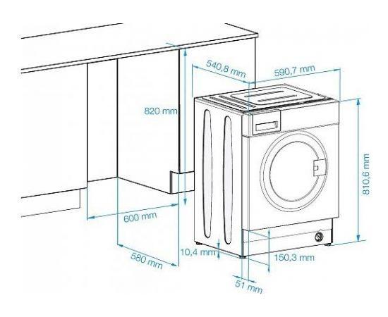 Beko WITC7612B0W iebūvējamā veļas mašīna