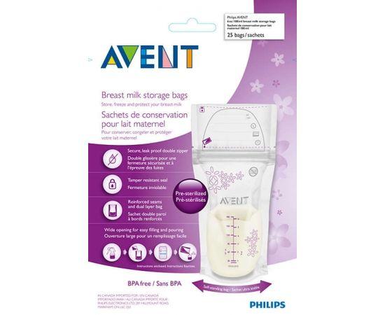 Philips AVENT SCF 603/25 piena uzglabāšanas maisiņi 180ml / 25 gab