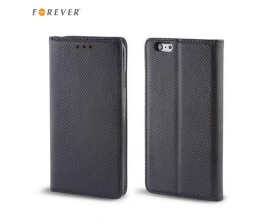 Forever Magnēstikas Fiksācijas Sāniski atverams maks bez klipša LG K7 X210 Melns