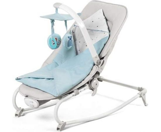 Kinder Kraft KinderKraft'18 Felio Art.KKBFELILIBL000 Light Blue Stilīgs mazuļu šūpuļkrēsls ar mūziku un vibrāciju