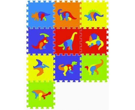 Sun Ta Toys SunTaToys Floor Puzzle Art.ST1021 Bērnu daudzfunkcionālais grīdas paklājs puzle dinozauri no 10 elementiem