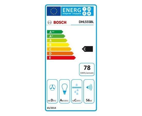 Bosch DHL555BL iebūvējams tvaika nosūcējs (Ir veikalā)