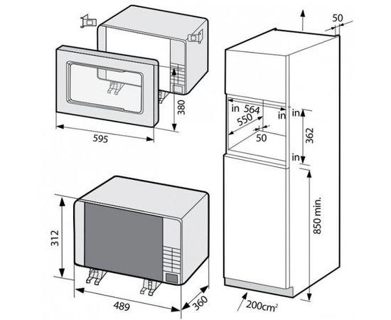 Samsung FG87SUB/XEO Iebūvējama mikroviļņu krāsns ar grilu