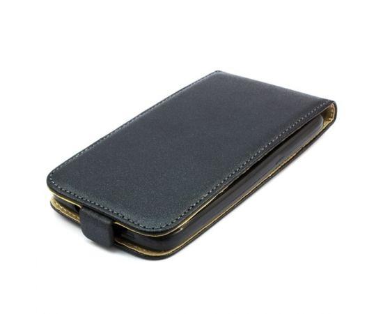 Telone Shine Pocket Slim Flip Case Xiaomi Redmi Note 3 telefona maks vertikāli atverams Melns