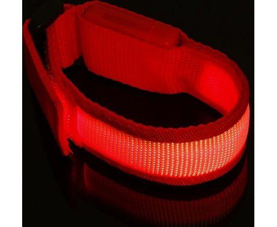 Mocco Universāla LED Rokas Aproce - Atstarotājs Sarkana