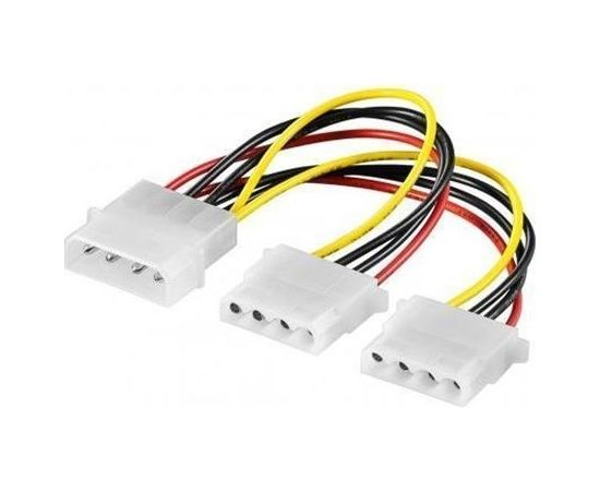 Goobay 50684 PC Y power cable/adapter (5.25 inch); 1x male to 2x female, 0.16 m