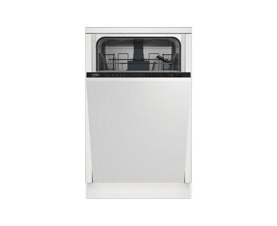 BEKO DIS26021 A++, 45cm iebūvējamā trauku mazgājamā mašīna