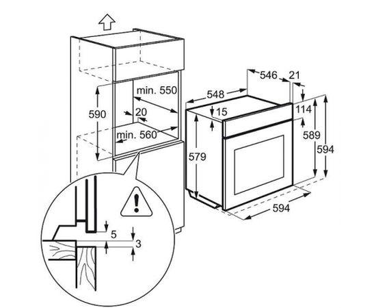 ELECTROLUX EOB8857AOX cepeškrāsns, metāls, tvaiks, 1.līm. telesk. vad