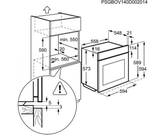 ELECTROLUX EOB43410OX cepeškrāsns, iebūvējama, metāls