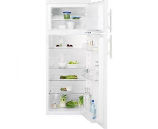 ELECTROLUX EJ2301AOW2 ledusskapis ar saldētavu augšā, 140cm, balts