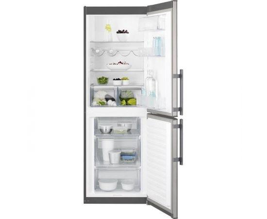 ELECTROLUX EN3201MOX ledusskapis ar saldētavu apakšā, 175cm, nerūs.tēr.