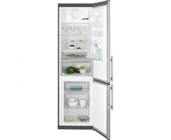 ELECTROLUX EN3854POX ledusskapis ar saldētavu apakšā, 200cm, nerūs. tēr.