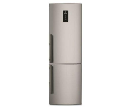 ELECTROLUX EN3854MOX ledusskapis ar saldētavu apakšā, 201cm, nerūs. tēr.