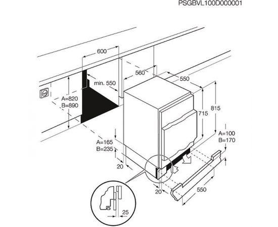 ELECTROLUX EUN1100FOW saldētava, pabūvējama, 82 - 89cm, SD
