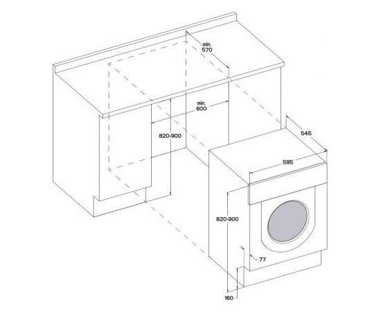 Whirlpool BI WDWG 75148 EU iebūvējamā veļas mašīna