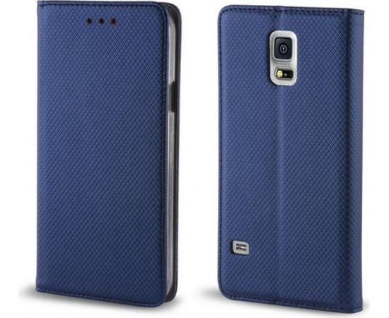 TakeMe Чехол-книжка с магнетической фиксацией без клипсы Samsung Galaxy J4+ 2018 (J415) Темно Синий