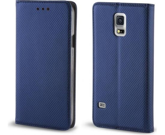 TakeMe Чехол-книжка с магнетической фиксацией без клипсы Huawei Honor Play Темно Синий