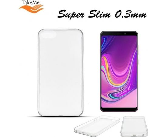 TakeMe Ultra Slim 0.3mm Back Case Samsung Galaxy A9 2018 (A920) / Galaxy A9 Star Pro / Galaxy A9s super plāns telefona apvalks Caurspīdīgs