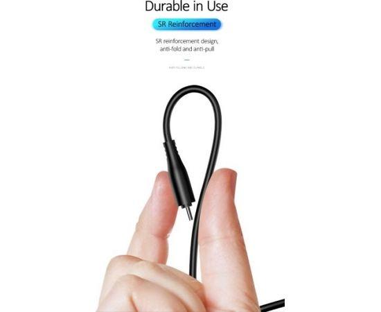 Usams US-SJ267 U18 Flexi PVC Универсальный Type-C на USB Кабель Данных и Заряда 2А с Круглым коннектором Черный