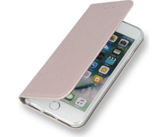 TakeMe Magnēstikas Fiksācijas Sāniski atverams maks bez klipša Apple iPhone XS Max Rozīgi zeltains