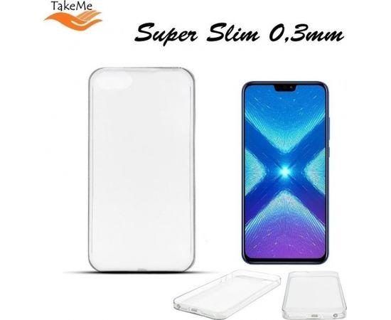 TakeMe Ultra Slim 0.3mm Back Case Huawei Honor 8X super plāns telefona apvalks Caurspīdīgs