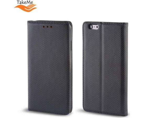 TakeMe Чехол-книжка с магнетической фиксацией без клипсы Huawei Honor 7C / Y7 Prime (2018) Черный