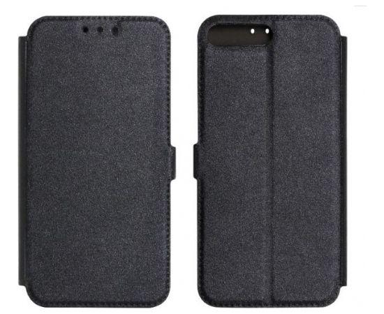 TakeMe Super plāns sāniski atverams maciņš ar stendu Samsung Galaxy J6+ 2018 (J610) Melns