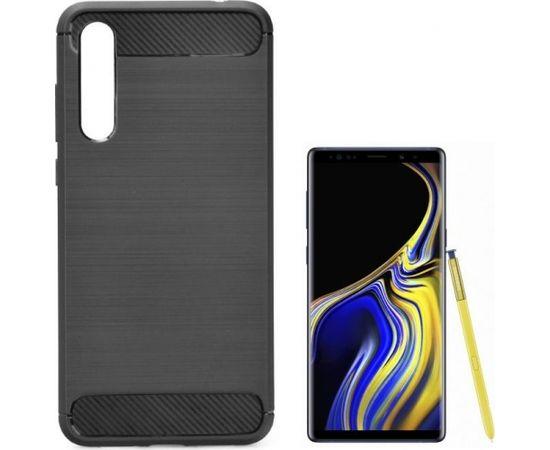 TakeMe супер тонкий и прочный TPU чехол-крышка с эффектом КАРБОНА для Samsung N960F Galaxy Note 9 Черный