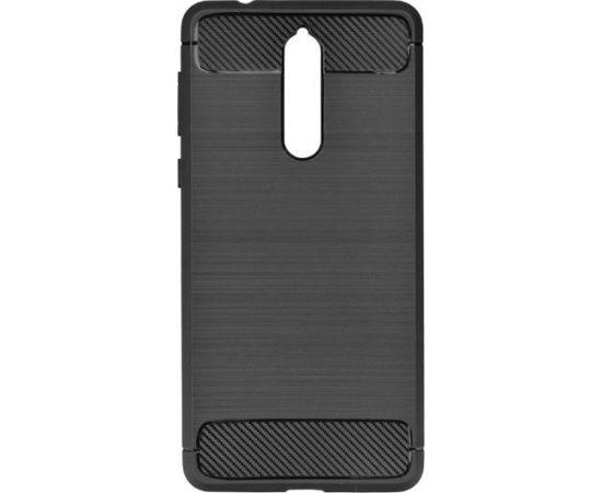 TakeMe супер тонкий и прочный TPU чехол-крышка с эффектом КАРБОНА для Nokia 7 Plus Черный