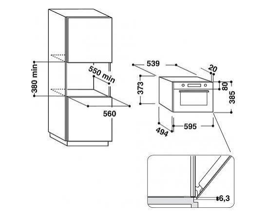 Hotpoint-Ariston MD 764 BL HA Iebūvējama mikroviļņu krāsns