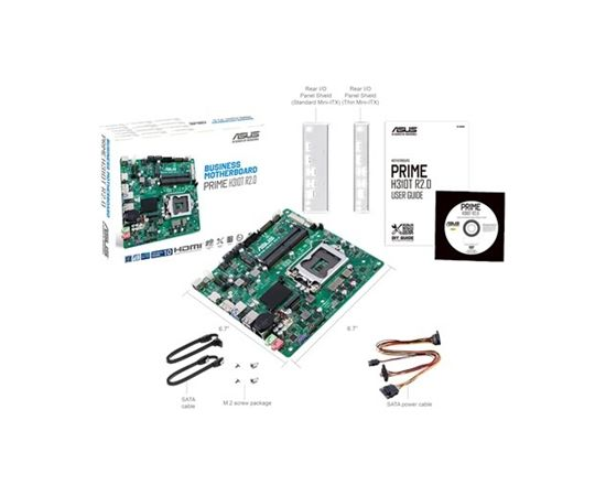 Asus PRIME H310T R2.0 Processor family Intel, Processor socket LGA1151, DDR4, Memory slots 2, Chipset Intel H, Mini ITX