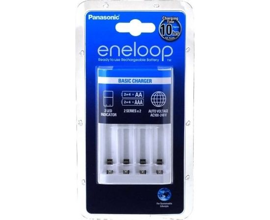 Panasonic eneloop Basic battery charger 2 or 4 AA/AAA