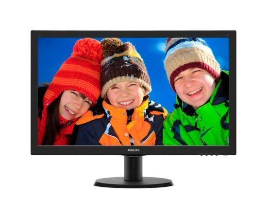 "Philips 243V5LSB/00 23.6"" TFT LCD Full HD 1920x1080 16:9 5ms Black VGA/DVI (Ir veikalā)"
