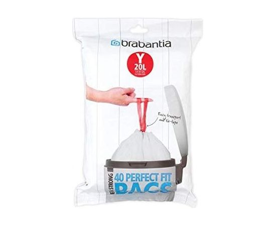 BRABANTIA atkritumu tvertņu maisiņi, 20 l, (Y) (40 gab) - 116865