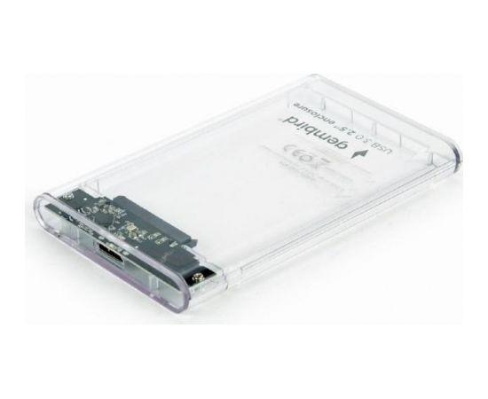 """HDD CASE EXT. USB3 2.5""""/TRANSPARENT EE2-U3S9-6 GEMBIRD"""
