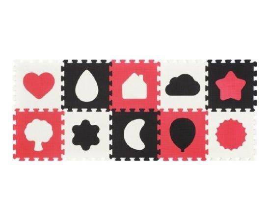paklājiņš-puzzle SHAPES - 10 plāksnes Babyono 395/01