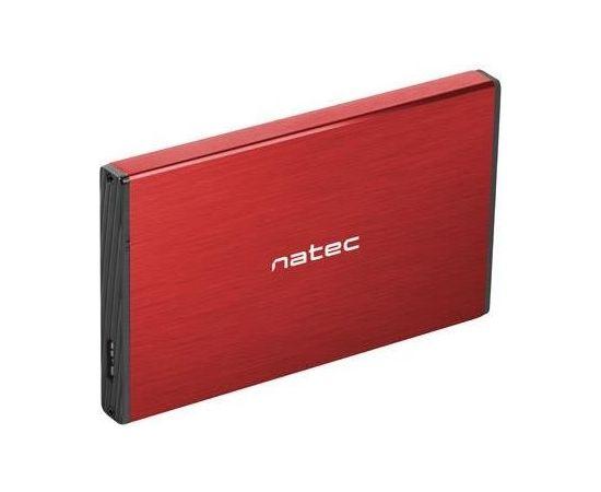 Natec external enclosure RHINO GO for 2,5'' SATA, USB 3.0, Red