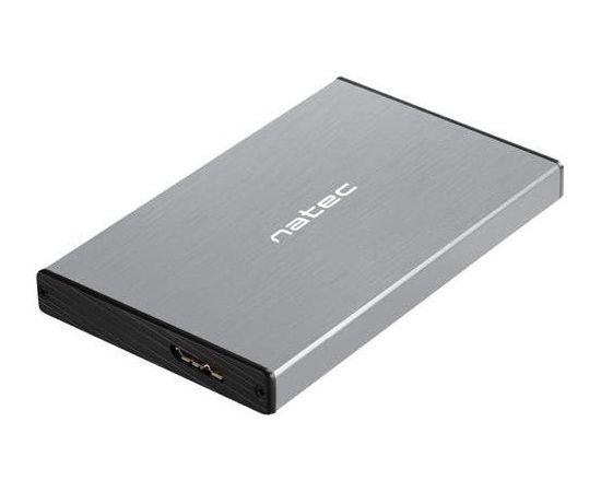 Natec external enclosure RHINO GO for 2,5'' SATA, USB 3.0, Grey