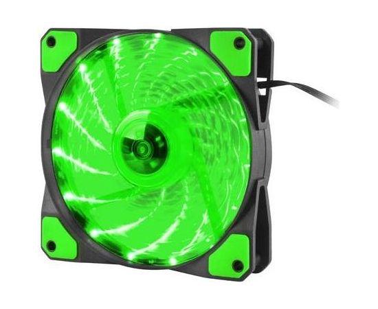 Natec Genesis Fan Case/PSU HYDRION 120 GREEN; LED; 120MM