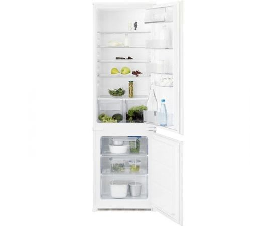ELECTROLUX ENN2801BOW ledusskapis ar saldētavu, iebūvējams, 178cm