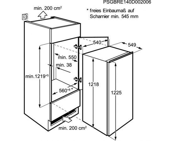 Electrolux ERN2201AOW Встроенный 208л A+ Белый