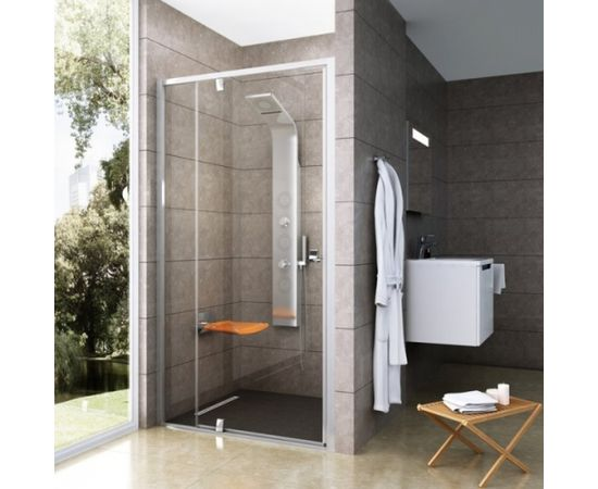 Ravak dušas durvis PDOP2-110 spīdīgs + caurspīdīgs stikls