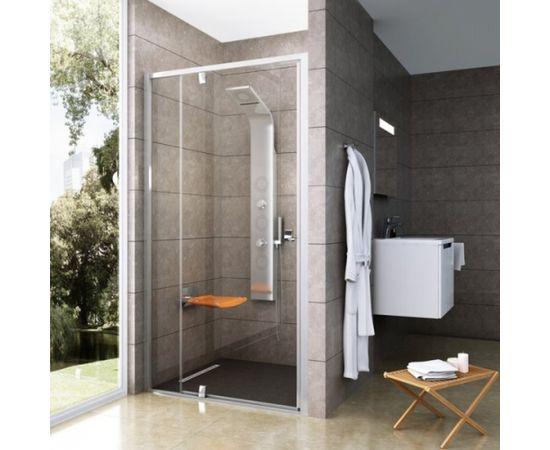 Ravak Dušas durvis PDOP2-100 melna + caurspīdīgs stikls