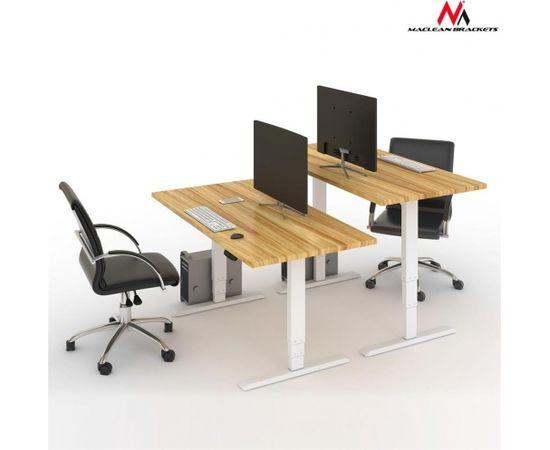 Maclean MC-763 Electric Sit-Stand Desk Frame elektriski regulējams galds (Ir veikalā)