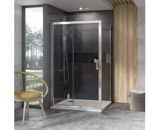 Ravak dušas siena 10° 10PS 80 spīdīga + caurspīdīgs stikls