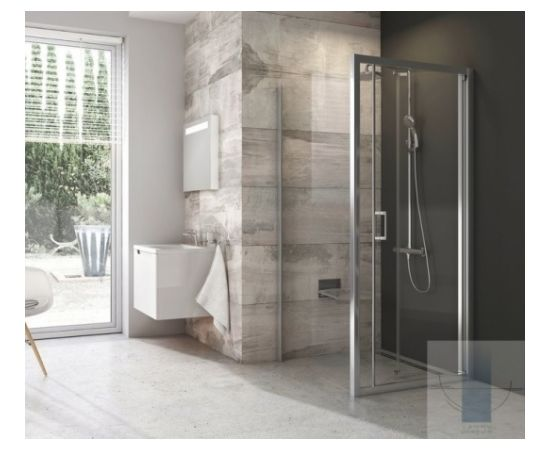 Ravak dušas siena BLPSZ 80  spīdīgs + caurspīdīgs stikls