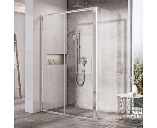 Ravak fiksētā dušas siena Blix Slim BLSPS 80 spīdīga + caurspīdīgs stikls