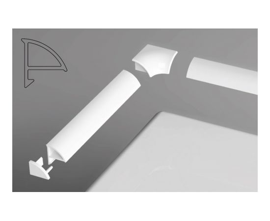 Ravak balta dekoratīvā apdares lente. Garums: 11/2000 balta