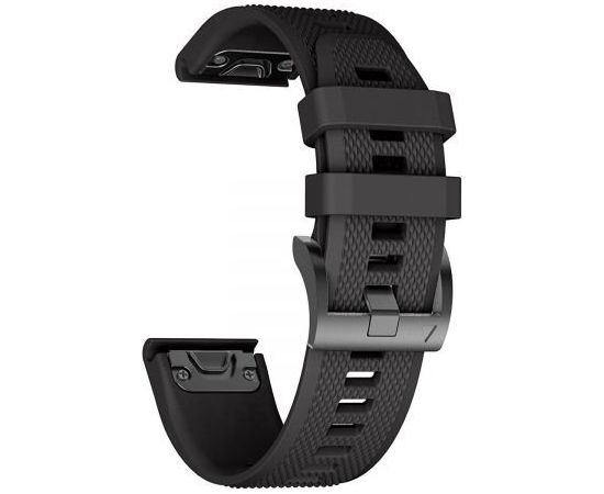 Tech-protect Smooth Siksniņa Garmin Fenix 3, 5x, 3HR, 5x Plus, 6x, 6x Pro, Black (Ir veikalā)