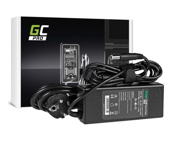 Green Cell PRO Charger / AC adapter for Dell 90W  19.5V   4.62A   7.4mm-5.0mm